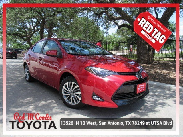 New 2019 Toyota Corolla Xle 4dr Car In San Antonio 930018 Red